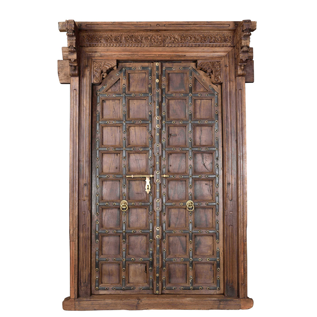 DOORS TEAK IN FRAME (JV013)