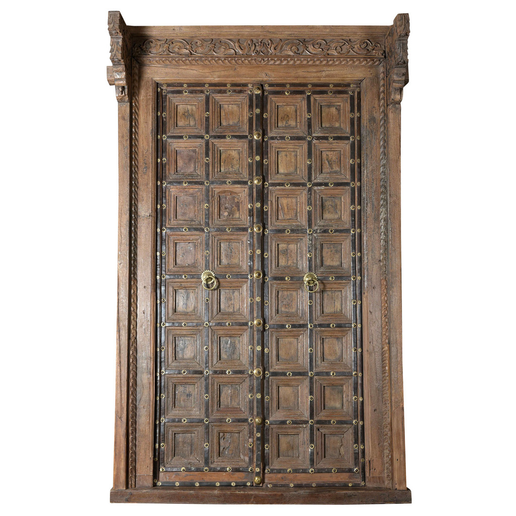 DOORS TEAK IN FRAME (JV064)