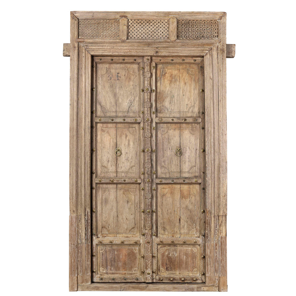 DOORS TEAK IN FRAME (JX078)