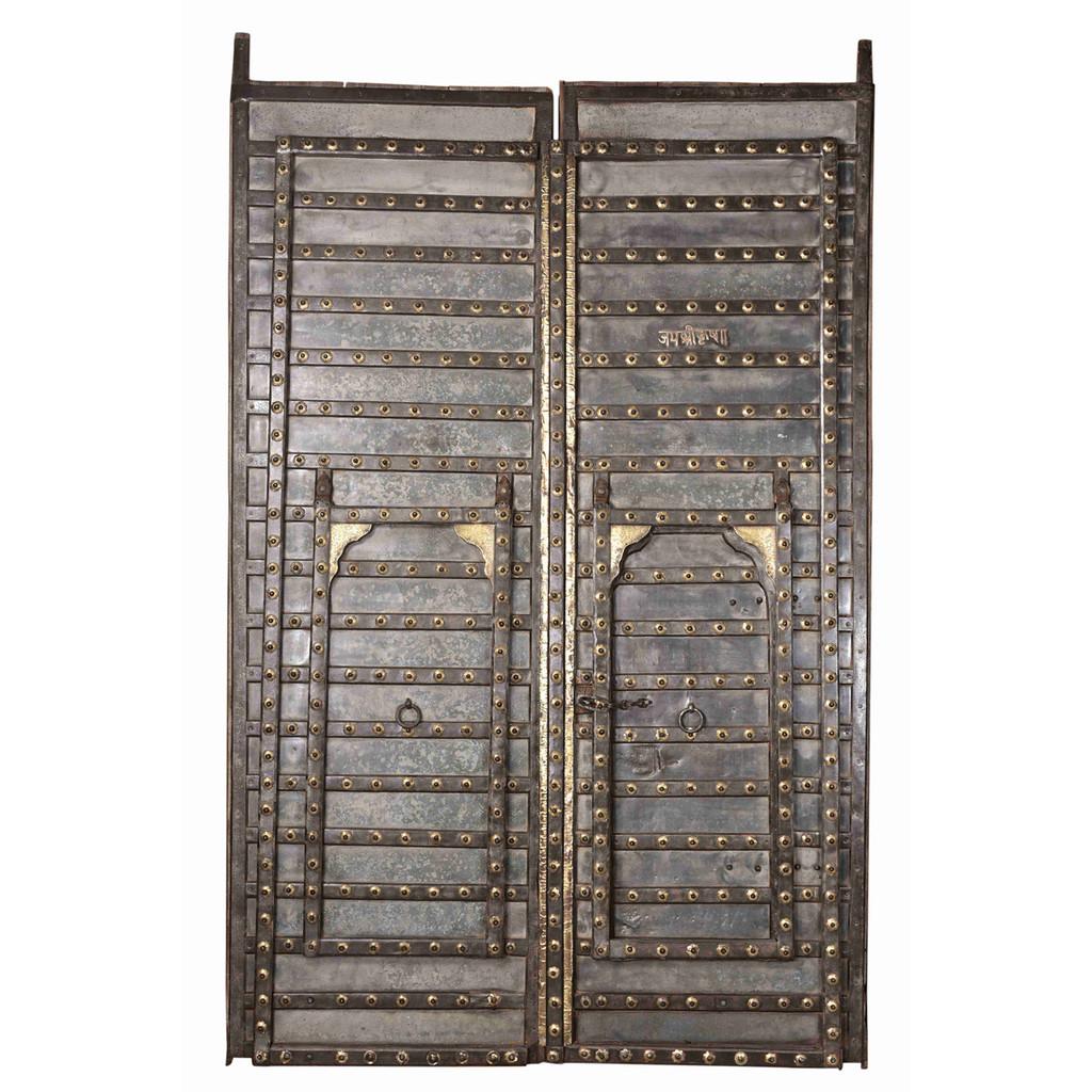 DOORS STEEL WITH BRASS DETAIL (JX240)