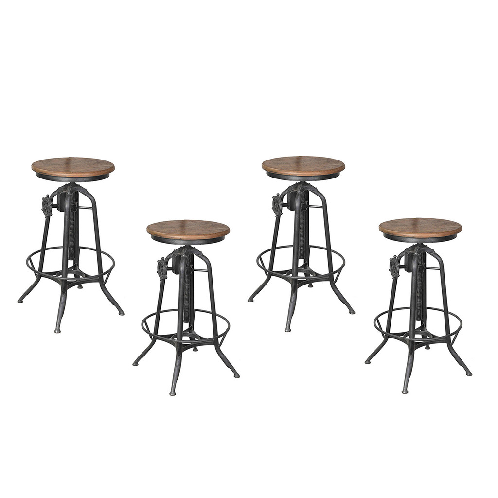 BAR STOOL ADJUSTABLE SET OF 4 (F308)