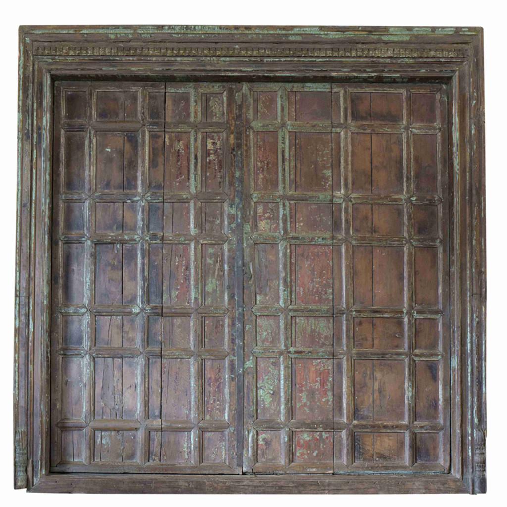 PAIR OF INDIAN DOORS (JZ405)