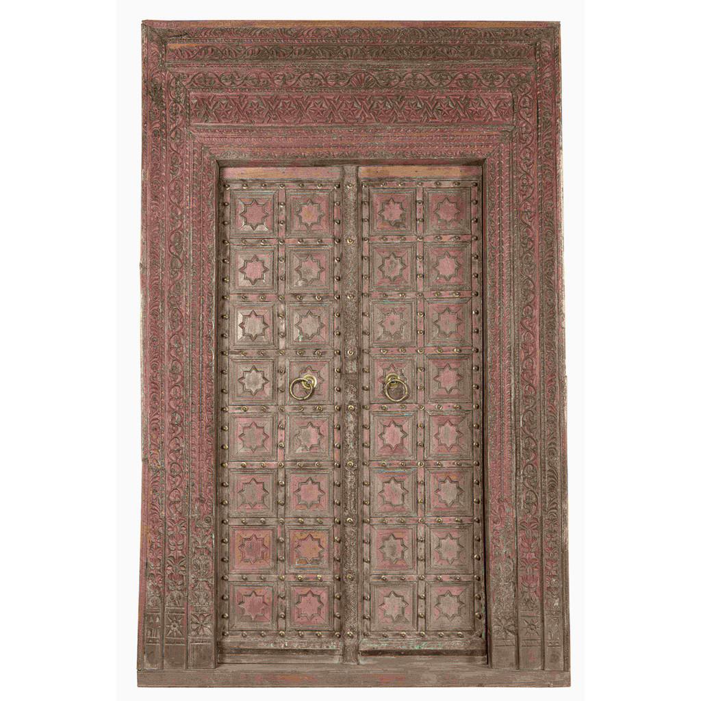PAIR OF INDIAN DOORS (JZ407)