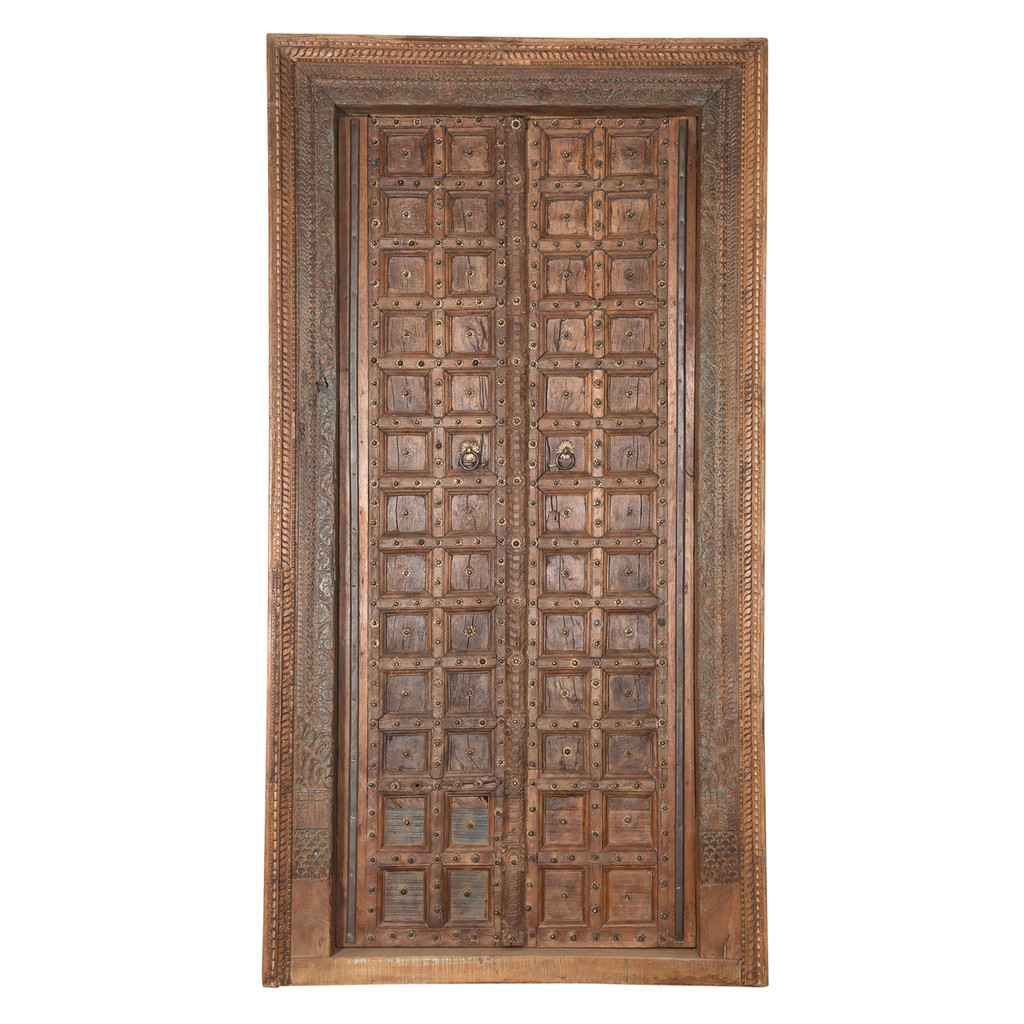PAIR OF INDIAN DOORS (JZ414)
