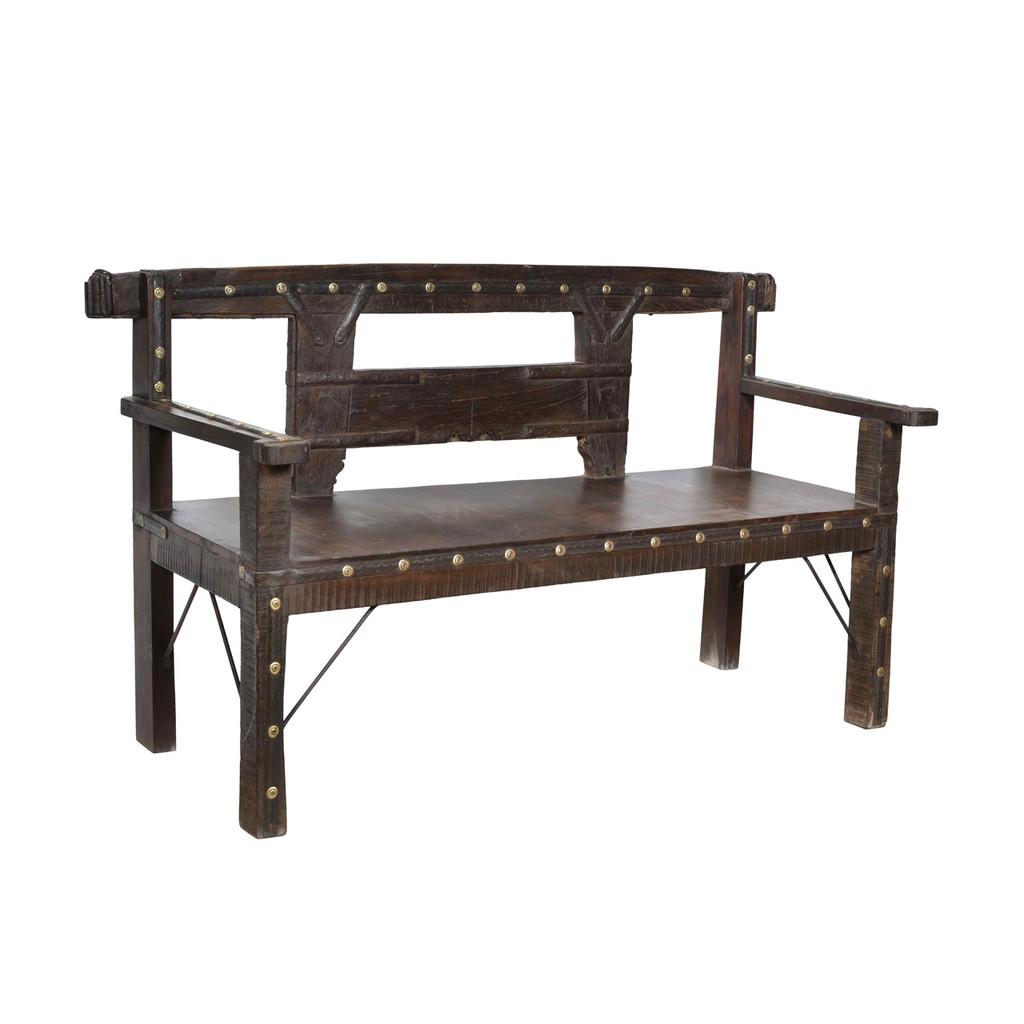 VINTAGE TEAK BENCH SEAT (KA031)