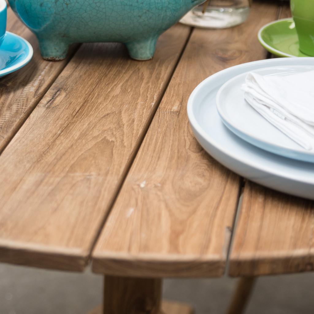 CUSTOM TEAK OUTDOOR CAFE TABLES