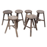 STOOL, WORKERS ROUND (DH049)