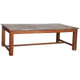 DINING TABLE ZINC TOP (JZ227)