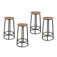 BAR STOOL ELM TOP 68CM SET OF 4