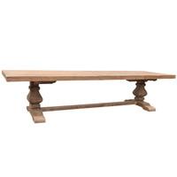 DINING TABLE PEDESTAL ELM 3.6M (F099)
