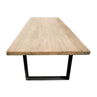 DINING TABLE INDUSTRIAL WALNUT (F110)