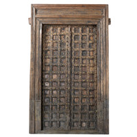 DOORS TEAK IN FRAME (JV063)