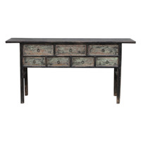 CONSOLE TABLE, 7 DRAWER (DH012)