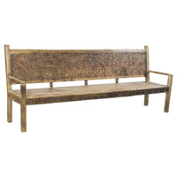 BENCH DECORATIVE CARVING (JX112)