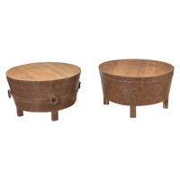 COFFEE TABLE DRUM (JX163)