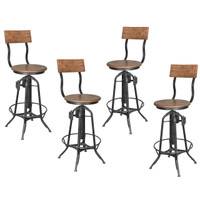 BAR STOOL ADJUSTABLE SET OF 4 (F307)