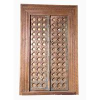 PAIR OF INDIAN DOORS (JZ413)