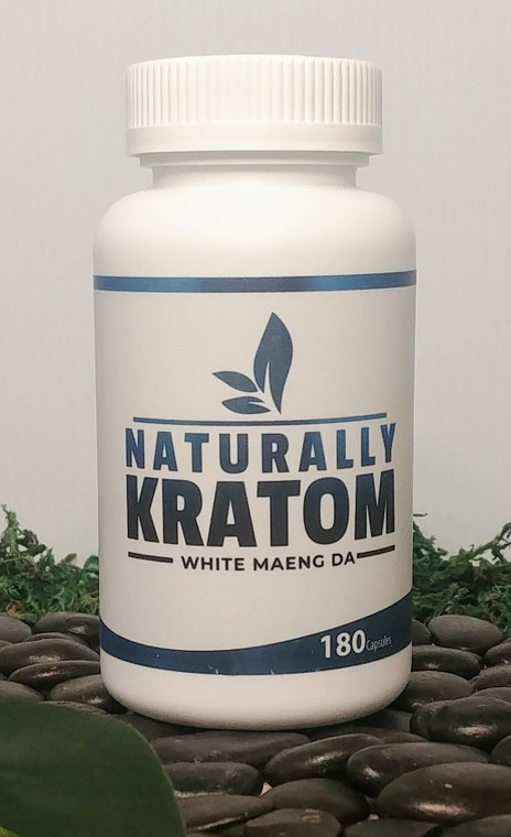 Naturally Kratom White Maeng Da - 180 Count Capsule (Any Strain)