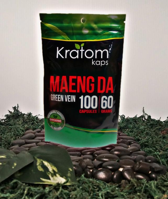 (4 Bags) Kratom Kaps Maend Da 100 Count Cap