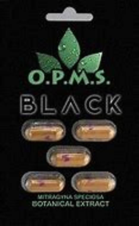 5 O.P.M.S. Black 5ct Cards (25 capsules) $7.92 per Capsule