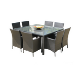 Cozumel Square 9-Piece Dining Set