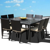 Cozumel 9 Piece Square Dining Set (Full Chair)