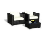 Espresso Vilano Arm Chairs