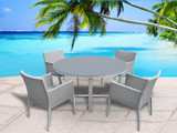 Parisia 5 Piece Round Dining Set