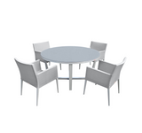 Parisia 5 Piece Round Dining Set