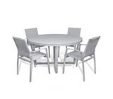 Parisia 5-Piece Round Dining Set