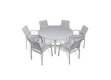 Parisia 7-Piece Round Dining Set