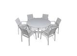 Parisia 7-Piece Round Dining Set