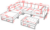 Marseille 6 Piece Sectional - (Open End)