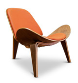 Shell Wing Chair - Orange