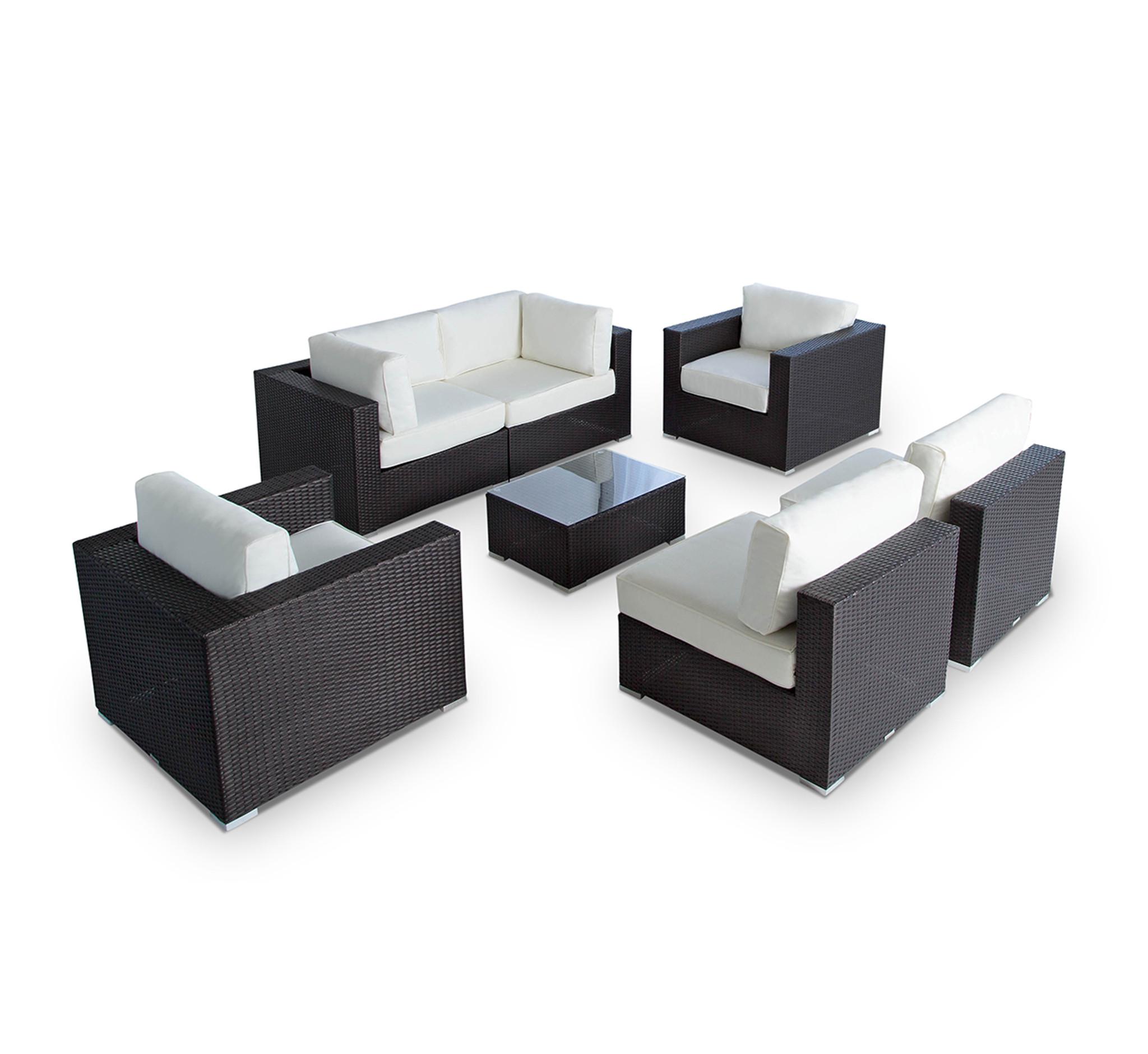 Vilano 7-Piece Sectional Sofa Set - MangoHome