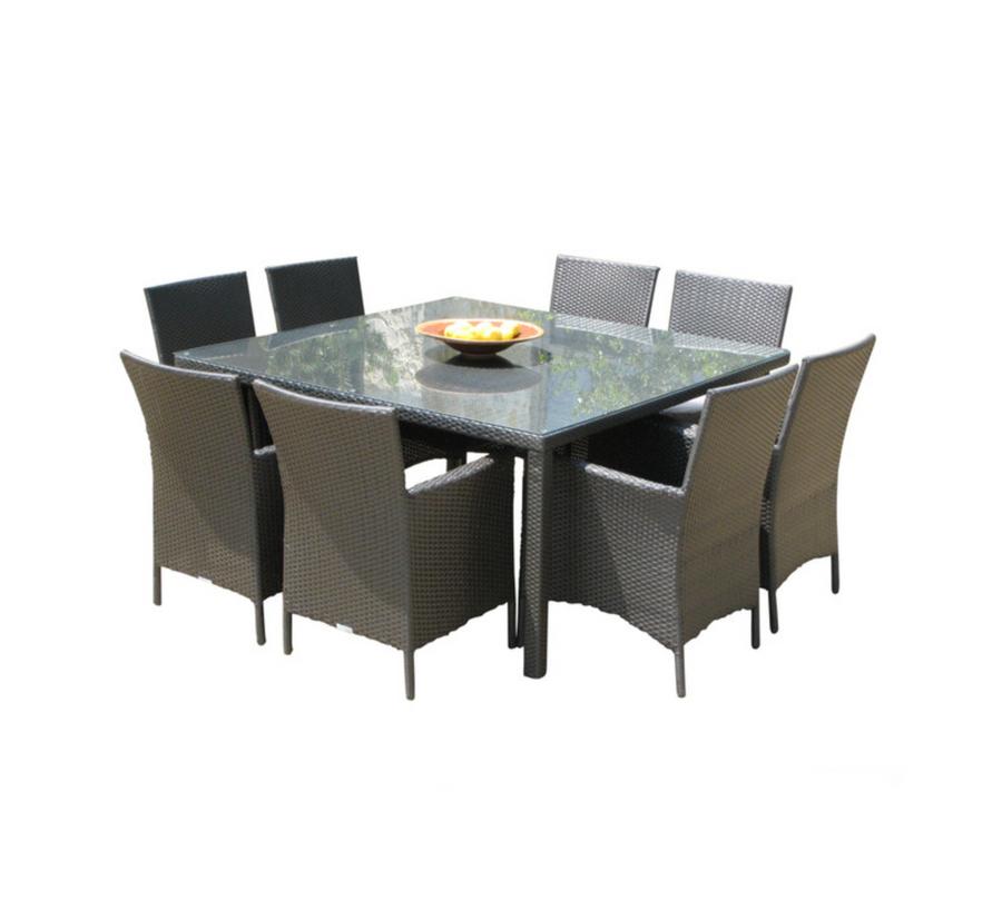 Cozumel Square 9-Piece Dining Set