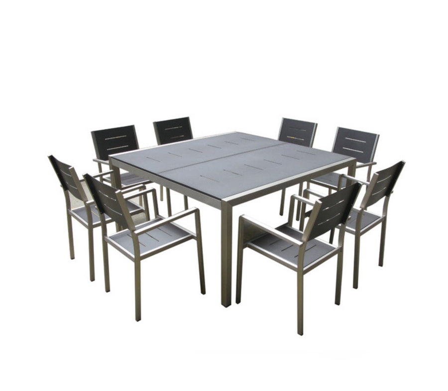 Monaco 9-Piece Square Dining Set