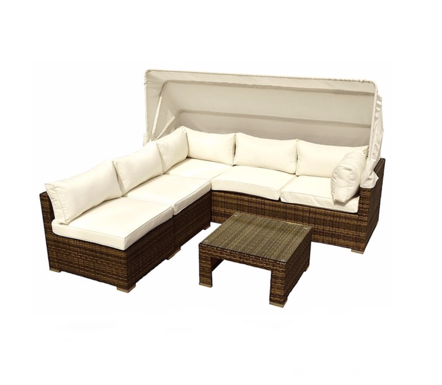 Sitges 4-Piece Sectional - Gold