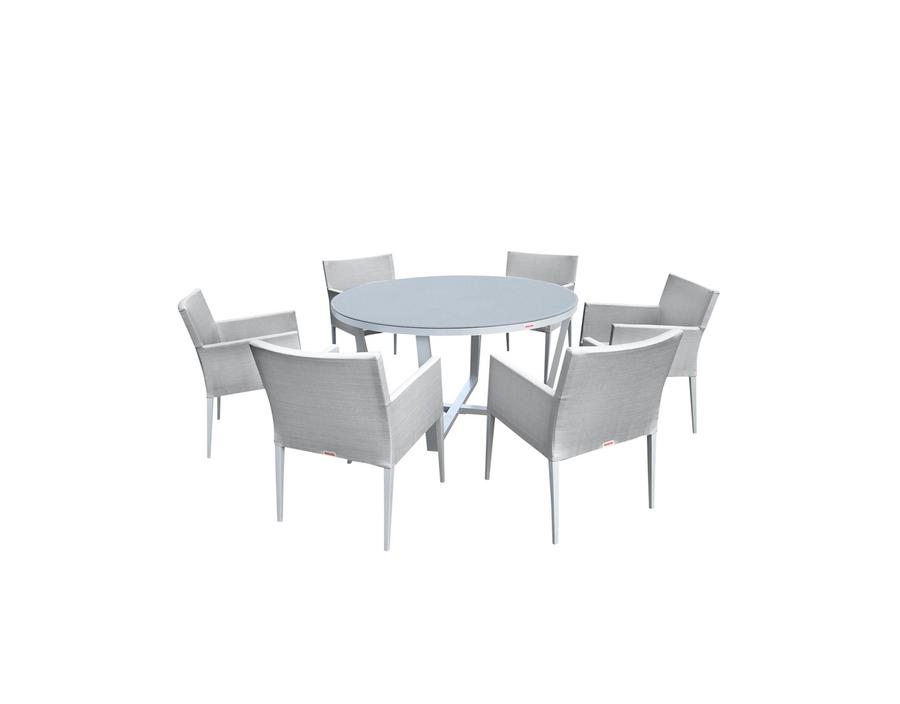 Parisia 7 Piece Round Dining Set