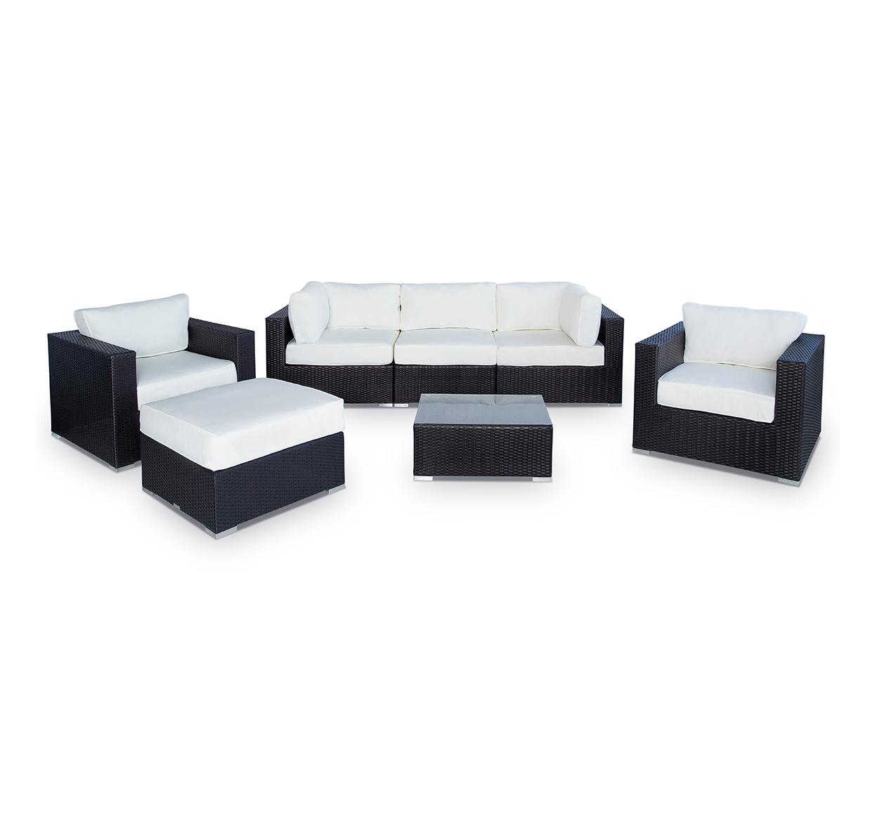 Swell Vilano 7 Pc Sofa Sectional W Ottoman Ibusinesslaw Wood Chair Design Ideas Ibusinesslaworg