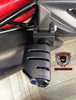 Can Am Spyder F3 Peg Adapters- Dually Trident BLK (LG-1026-7567) by Lamonster Shown as passenger peg
