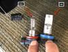 Lamonster RT Ultra Bright LED Fog Lights (LG-3004) (Bright Ryder by Lamonster)  OEM bulb on the right, Lamonster LED on the left