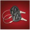 Big Bike Parts® Black Spyder Key Cover (Pair) (SC-41-182BK) Lamonster Approved Fits ALL Can-Am Spyder Keys