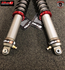 THREADED MANUAL OR REMOTE HYDRAULIC SPRING PRELOAD Available as a manual threaded adjuster or convenient remote hydraulic preload adjuster. Lets the rider fine-tune the initial force applied on the springs and precisely balance the weight distribution across the front and rear of the vehicle while setting up the ride height (sag) and to lower or raise the vehicle to adapt to various situations or to suit your personal preference.  To use, turn the preload adjustment ring clockwise (from top of the shock) to increase preload and raise the vehicle or turn counter-clockwise to reduce preload and lower the vehicle.
