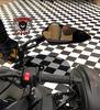 "Can Am Ryker Billet Mirror Perch & Mirror set (LG-1056-6068) by Lamonster Shown with 1"" Ram Ball Option"
