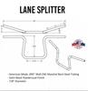 """Lane Splitter™ 7/8"""" Handlebars - 9.25"""" Rise Black Powder-coated (TC-101-0001)"""