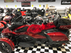 Sheepskin Seat Cover (Full Seat Cover) (MM-4400-R-BLK)  Shown on 2020 Can Am RT (RED with BLACK tips)