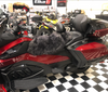 Misty Mountain Sheepskin Seat Cover (Rider Seat Only) (MM-4401-GY-BLK) (GRAY with BLACK tip)  Shown on a 2020 Can Am Spyder RT-LTD
