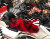 Sheepskin Seat Cover (Full Seat Cover) (2010 - 2019 RT/RT-S/RT-LTD) (MM-4402-R-BLK) (RED with BLACK tips)  Shown on a 2014 Can Am Spyder RT-LTD