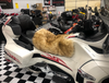 Sheepskin Seat Cover (Rider Seat Only)(2010 - 2019 RT/RT-S/RT-LTD) (MM-4403-HON-BN) (HONEY with BROWN tips)  Shown on a 2014 Can Am Spyder RT-LTD